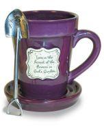 Mug (FlowerPot)-Love Is, Purple