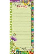 Memo Pad: When I Count My Blessings