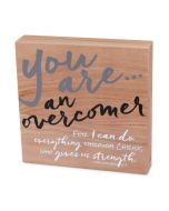 Plaque-Wood Identity:You Are An Overcomer #40146