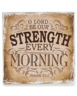 Plaque (Small)-O Lord Be Our Strength (WBL010)