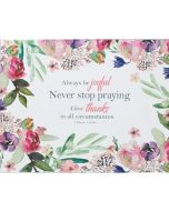 Always Be Joyful Large Glass Cutting Board