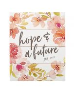 Plaque: Hope and Future