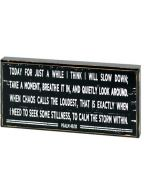 Plaque:TableTop-Today For Just a While