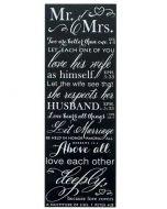 """Plaque : Mr & Mrs, 5 """"/14"""" (PLK514-100)"""