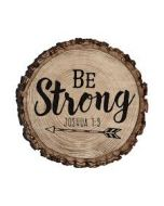 Magnet Wood: Be Strong, Joshua 1:9