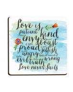 Magnet Wood: Love Is Patient Love Is Kind