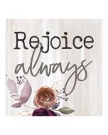 Wood Magnet: Rejoice Always