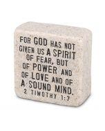 Fearless, Cast Scripture Stone, 40702