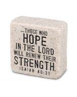 Hope, Cast Scripture Stone, 40705