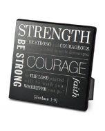 Strength, Metal Desktop Plaque