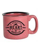 Grateful Heart, Campfire Mug, Pink