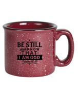 Mug: Camping-Be Still & Know I'm God,Burgundy #4868