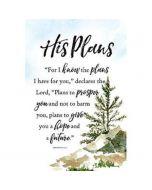 His Plans, Woodland Wooden Plaque