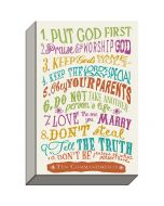 Plaque Canvas-10 Commandments