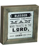 Blessed is The Man Box Plaque