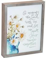 Magnify The Lord Framed Art