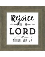 Plaque Box: Rejoice in the Lord
