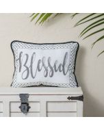 Pillow: Blessed, Polka Dot, Black