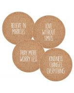 Believe In Miracles, Cork Coaster Set