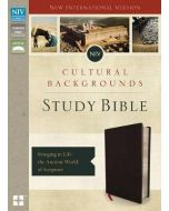 NIV, Cultural Backgrounds Study Bible- Bonded Leather, Black, Red Letter Edition