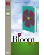 NKJV Bloom Collection Bible (Italian Duo-Tone, Periwinkle Flax)