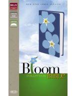 NKJV Bloom Collection Bible (Leatherlook-Blue)