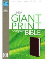 NIV Giant Print Compact Bible (Burgundy Leatherlook)