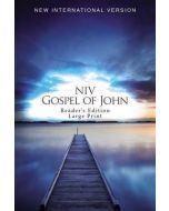 NIV Gospel of John, Reader's Edition, Large Print,  Blue Pier