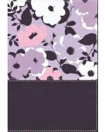 NIV Thinline Compact Leather Soft-Purple Floral