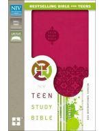 NIV Teen Study Compact DuoTone-Cranberry