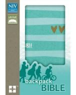 NIV Backpack Bible (Turquoise/Gold)