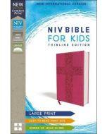 NIV Bible For Kids, Imitation Leather, Large Print-Pink