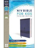 NIV Bible for Kids, Large Print, Leathersoft, Blue