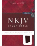 NKJV Study Bible, Bonded Leather, Burgundy, Comfort Print