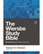 NKJV Wiersbe Study Bible, Hardcover, Red Letter, Comfort Print