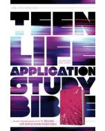 NLT Teen Life Application Study Bible (LeatherLike, Pink Fields)