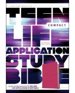 NLT Teen Life Application Study Bible Compact  (LeatherLike, Pink Love)