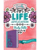 NLT Girls Life Application Study Bible - TuTone  (Purple/Teal)