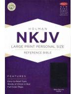 NKJV Large Print Personal Size Reference Bible, Black Genuine Leather