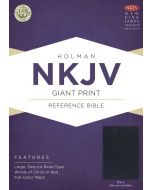 NKJV Giant Print Reference Bible, Black Genuine Leather