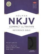 NKJV Compact Ultrathin Bible, Charcoal, LeatherTouch