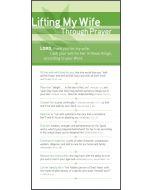 Prayer Card - Lifting My Wife Through Prayer Card