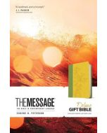 Message Deluxe Gift Bible, The  (Sunlight/Grass Leather-Look)