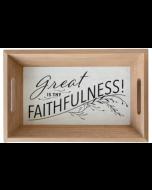 Tray Wooden: Great is Thy Faithfulness, J2061