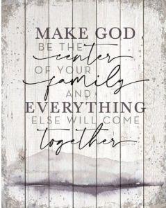 Plaque (Big Board): Make God Be The Center, 5397