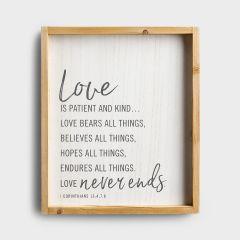 Plaque (Wood)-Love Is Patient