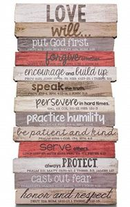 Plaque- Stacked Wood, LOVE, Small, 45028