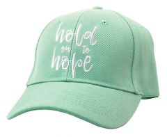 Cap Hold on to Hope, Sea Green, 54085