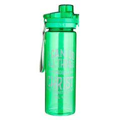 WaterBottle/Plastic-I Can do All Things Grn WBT099