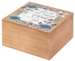Keepsafe Box-I Can Do All Things, WOODBOX-113